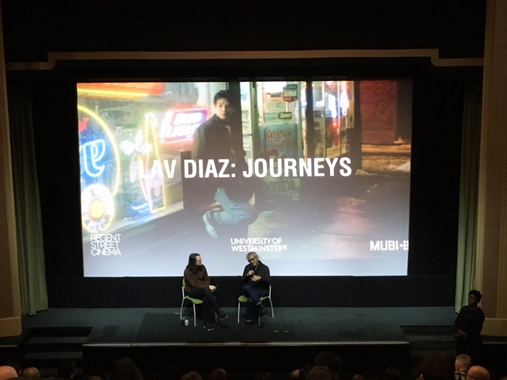 Lav Diaz in conversation with George Clark at Regent Street Cinema following screening of Batang West Side