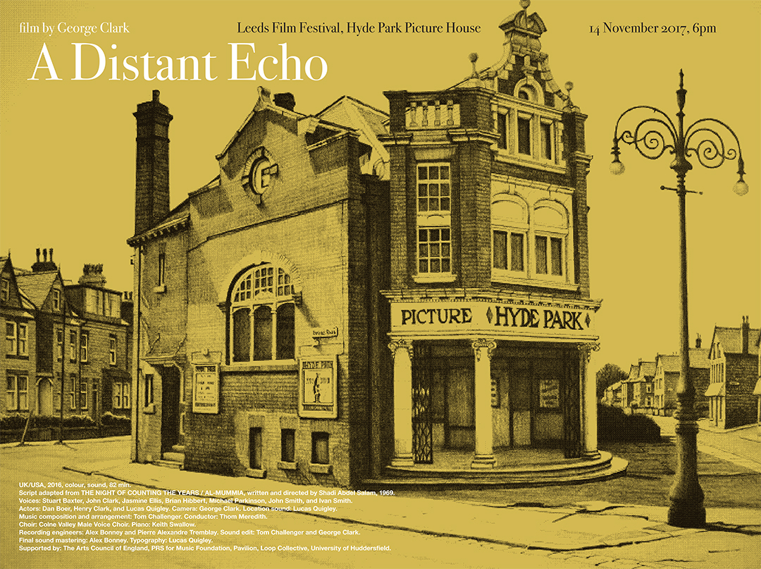 A Distant Echo - Leeds Film Festival poster by Lucas Quigley