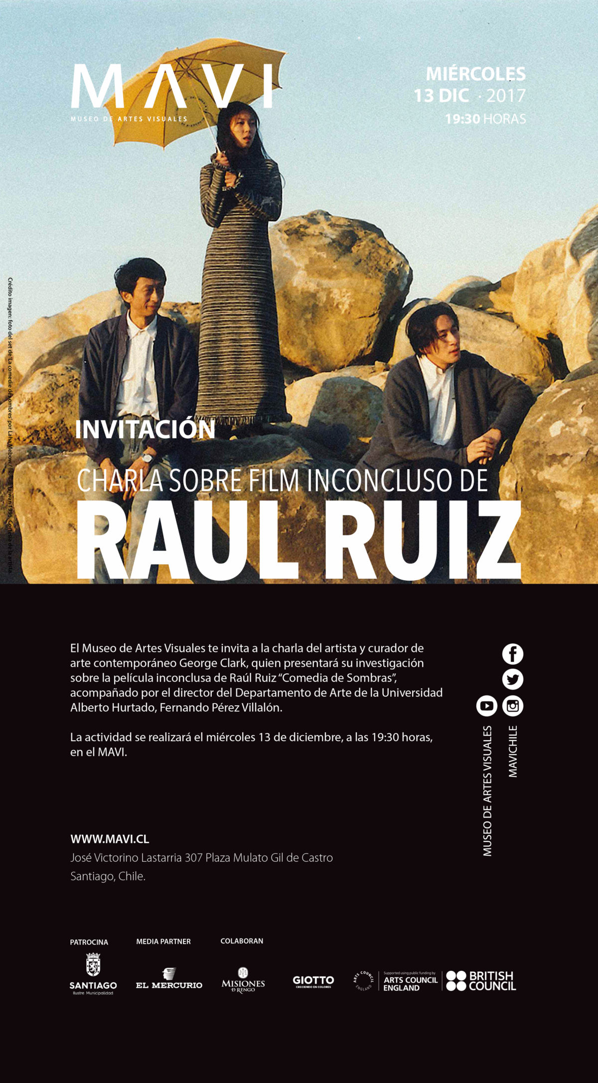An investigation into the unfinished film by Raul Ruiz, MAVI, Santiago 13 Dec 2017