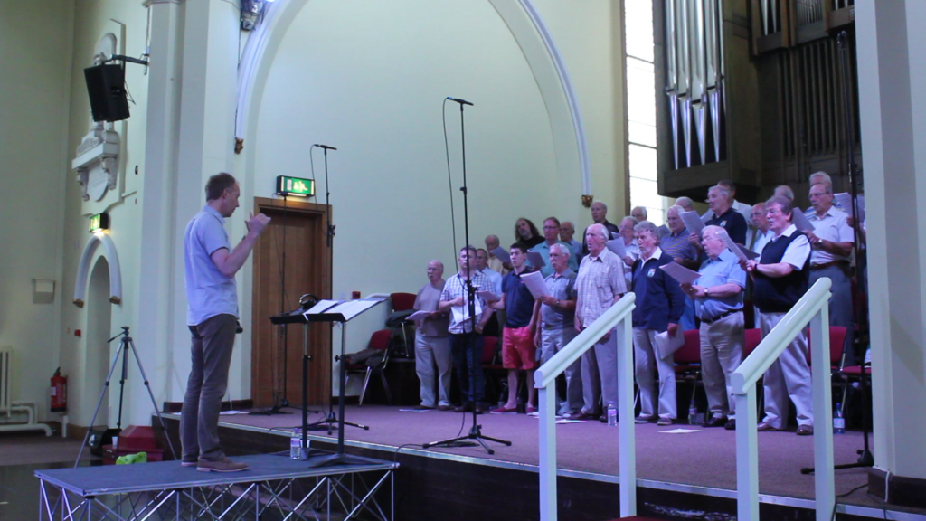 Colne Valley Male Voice Choir, recording session, Huddersfield