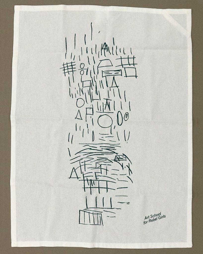 Art School for Rebel Girls x Jatiwangi art Factory, tea towel, 2019