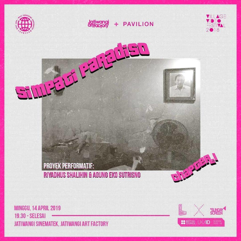 Simpati Paradiso, performance by Riyadhus Shalihin & Agung Eko Sutrisno, Jatiwangi Sinemathek, 14 April 2019